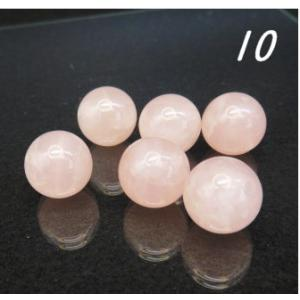 天然石ビーズ ローズクォーツAA ラウンド 10.0mm玉 粒売り/バラ売り luz