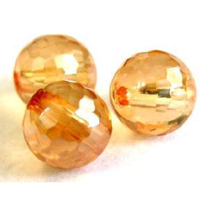 天然石ビーズ ゴールデンオーラミラーボール 6mm|luz