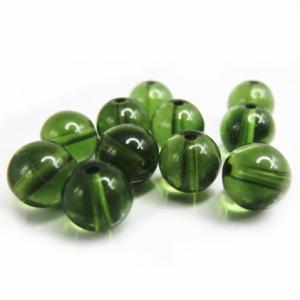 隕石ビーズ モルダバイト  7.0ミリ玉ビーズ 1粒  高品質/鑑定済み|luz