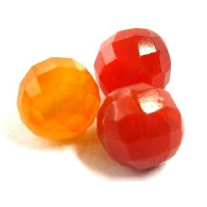 天然石ビーズ カーネリアンカット 8.0ミリ玉 1粒|luz