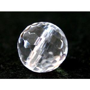 天然石ビーズ 水晶ミラーボール10mm玉/1個|luz