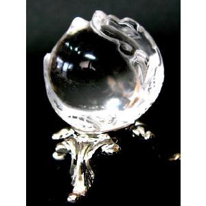 天然石水晶彫刻 昇り龍 25mm玉/1個|luz
