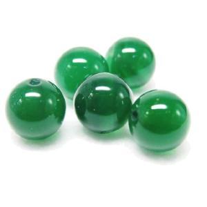 サービス品 天然石ビーズ  緑メノウ/瑪瑙  8.0ミリ玉 1粒|luz