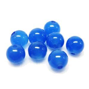 サービス品 天然石ビーズ 青メノウ 6.0mm 1粒|luz