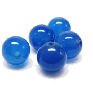 サービス品 天然石ビーズ  青メノウ  8.0ミリ玉 1粒|luz