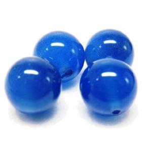 サービス品 天然石ビーズ  青メノウ 10.0mm 1粒|luz