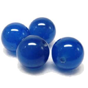 サービス品 天然石ビーズ  青メノウ 12.0ミリ玉 1粒|luz