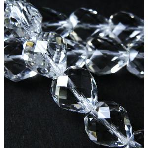 パワーストーン 天然石ビーズ 水晶ハートカットビーズ10×10 luz