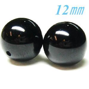 天然石ビーズ モリオン (黒水晶) ロシア産 12.0mm 1粒売り|luz