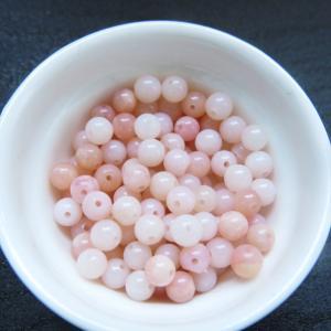 天然石ビーズ ピンクオパールAAA 4.0mm玉 1粒売り/バラ売り|luz