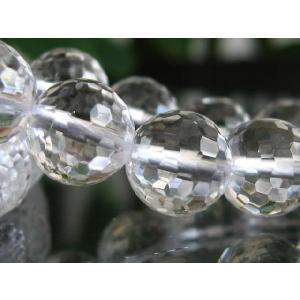高品質ビーズ 水晶ミラーボール128面カットAAA 8.0mm玉 1粒売|luz