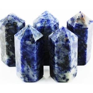 ☆おすすめ☆!!天然石鉱物 アフガニスタン産  ソーダーライト ポイント 20×50   【DM便送料無料】|luz