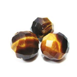 天然石ビーズ  タイガーアイカット 10ミリ玉 12ミリ玉 1粒|luz