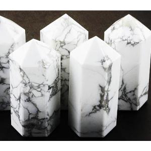 ☆おすすめ☆!!天然石鉱物 ホワイトハウライト ポイント 20×50   【DM便送料無料】|luz