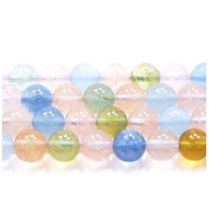 高品質半連売ビーズ  ミックスベリル AAA 8.0mm クリアータイプ  24粒売り/連 【送料無料】|luz