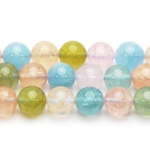 高品質半連売ビーズ  ベリルAAA 10.0mm クリアータイプ  20粒売り/連 【送料無料】|luz