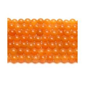 天然石ビーズ オレンジクォーツ(レッドアベンチュリン) 4.0ミリ 連/約40cm|luz