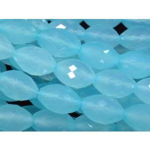 天然石ビーズ シーブルーカルセドニーライスカット 12×8×8  1粒売り  luz