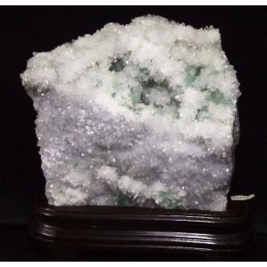 天然石置物 パワーストーン フローライト 水晶  3100|luz