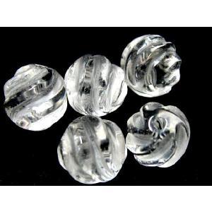 水晶ウェーブカット 8mm玉/1個|luz