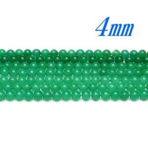 高品質ビーズ ヴァーダイト 4.0ミリ玉 ラウンド/丸玉 AAA 半連 50粒 luz