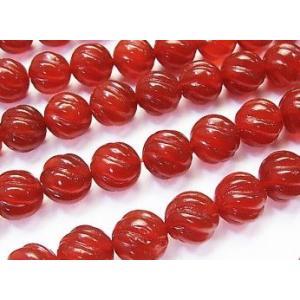 天然石ビーズ レッドアゲート ラウンド 8.0mm Sラインツイストミリ玉  1粒売り/バラ売り |luz