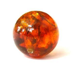 天然石ビーズ   アンバー Umber琥珀  12.0ミリ玉 1粒   ポーランド産|luz