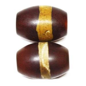 チベット 天珠ビーズ    一線珠  14×10mm  1個売り|luz