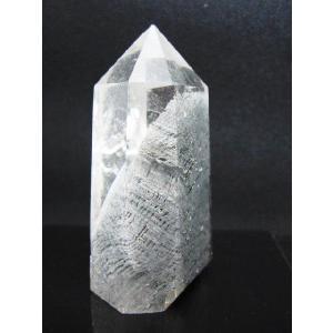 然石パワーストーン  ガーデンクォーツポイント 苔入り水晶 123|luz