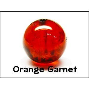 天然石ビーズ オレンジガーネット(ヘソナイト)AAA 10.0ミリ玉 1粒 luz