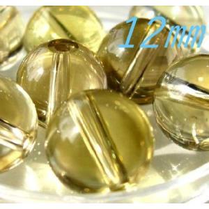 粒売ビーズ レモン水晶 AA 12.0mm玉 丸玉|luz