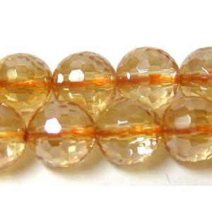 天然石ビーズ ゴールデンオーラミラーボール 8mm/20cm luz