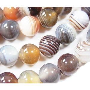 天然石ビーズ ボツワナアゲート ラウンド 10.0mm  1粒売り/バラ売り|luz