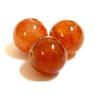 天然石ビーズ オレンジガーネット/ヘソナイト AA  丸玉 10mm玉 1粒売り|luz