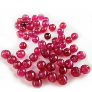 限定品高品質ビーズ!宝石質 ルビーAAAA 4.0ミリ玉 1粒売り/バラ売り |luz