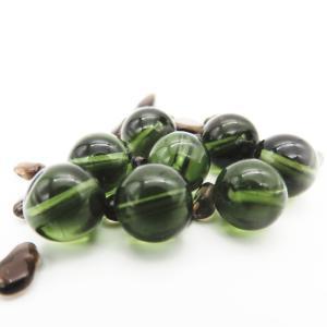 隕石ビーズ  モルダバイト 8.0ミリ玉  1粒  高品質/鑑定済み |luz