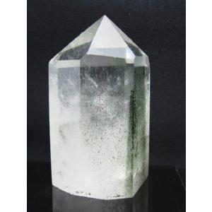 天然石パワーストーン  ガーデンクォーツポイント 苔入り水晶  230|luz