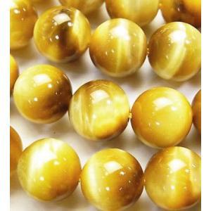 天然石ビーズ ゴールドタイガーアイAAA ラウンド 10.0ミリ玉 1粒売り|luz
