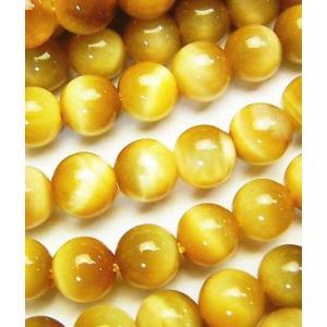 天然石ビーズ ゴールドタイガーアイAAA ラウンド 6.0ミリ玉 1粒売り|luz
