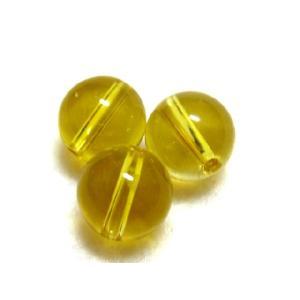 パワーストーン  シトリンビーズ 10ミリ玉 濃い黄色 1粒 |luz