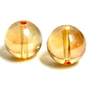 天然石ビーズ ゴールデンオーラ 10mm玉 1粒 luz