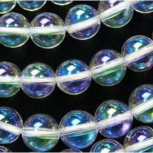 オーロラビーズ アクアオーラホワイト  8.0ミリ玉 粒売り|luz