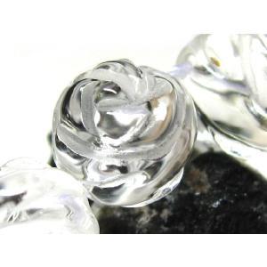 天然石ビーズ 水晶バラの花カット(浅彫り) AA  12.0mm/1粒|luz