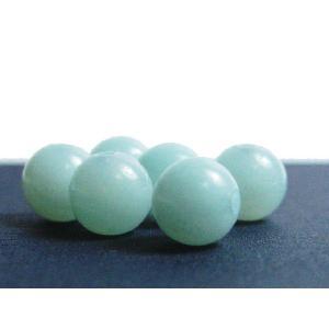 天然石ビーズ アマゾナイト風  ブルーカルセドニ 6.0mmAA 1粒 【サービス品】 luz