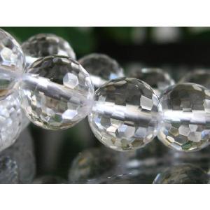 高品質ビーズ 水晶ミラーボール128面カットAAA 6.0mm玉 1粒売|luz
