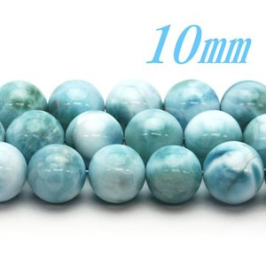 半連売ビーズ!高品質 ラリマー AAA 10.0ミリ 20粒/連|luz