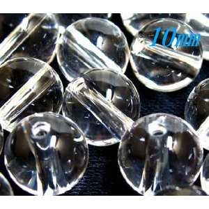 粒売りビーズ  水晶(クリスタルクォーツ) AAA 10.0ミリ玉  |luz