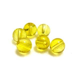パワーストーン シトリンビーズ 6ミリ玉 濃い黄色 1粒|luz