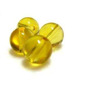 パワーストーン  シトリンビーズ  8.0ミリ玉 濃い黄色 1粒 |luz