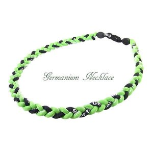 ゲルマニウム ゲルマニウムネックレス 三つ編みゲルマニウムネックレス 黒白黒 HJ53cm lvx200807